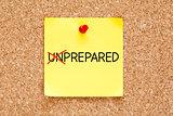 Prepared Not Unprepared Sticky Note