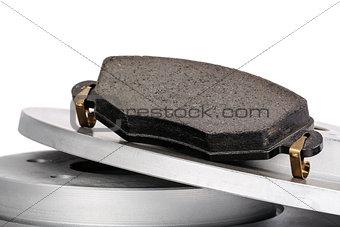 Brake pad and brake discs