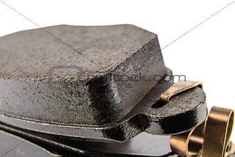 Brake pads seen close up