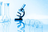 microscope and test tubes used in  laboratory
