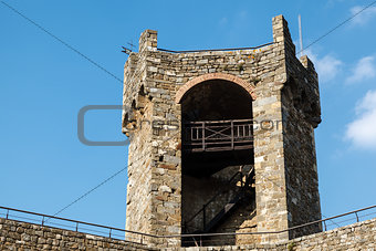 Defensive Tower in the Castle of Montalcino, Tuscany