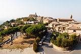 Aerial View of Montalcino, the City of Brunello Wine, Italy