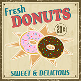 Dounuts vintage poster