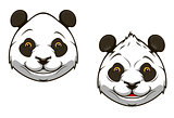 Funny chinese panda bear mascot