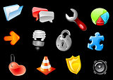 Glossy icons for web design