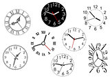 Set of clock dials