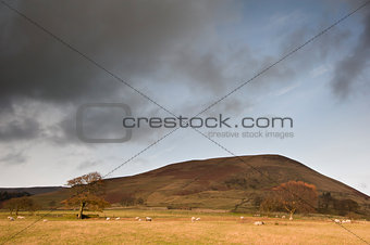 Kinder Scout in Peak District National Park in Autumn colours