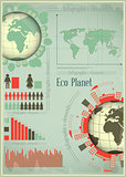 Infographics Eco Planet Earth and Construction