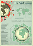 Infographics Planet Earth and Construction