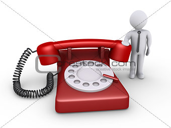 Businessman is waiting for phone call