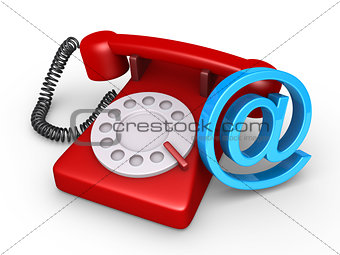 Telephone and e-mail symbol
