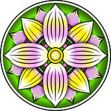 Lotus colorful ornament