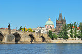 Prague. A view of the Charles Bridge and the Old Town
