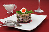 Herring tartare with capers and sour cream
