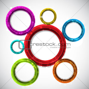 Abstract circular design background