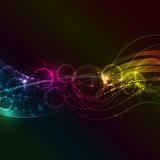 Abstract music notes background
