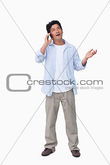 Male talking on the cellphone