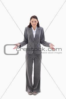 Businesswoman clueless