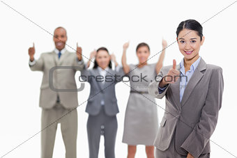 Approving business team