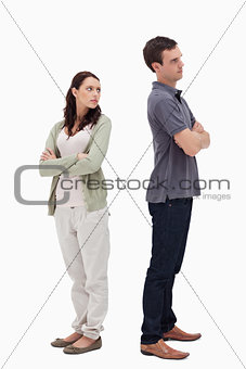 Couple in disagreement
