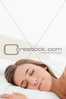 Close up, Woman in bed asleep