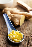 sliced ginger root