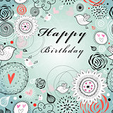 floral greeting card for birthday