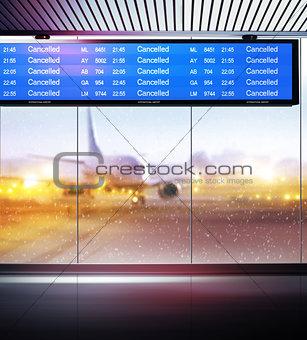 cancellation of planes flights