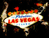 Welcome to Las Vegas 3D Model Grunge