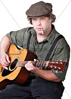 Smoking Guitar Player