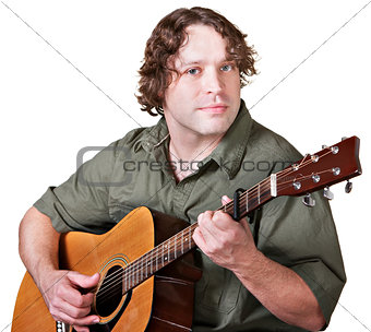 Cheerful Guitar Player