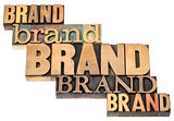 brand word abstract