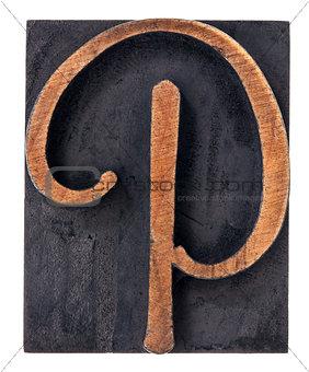 ornamental letter P