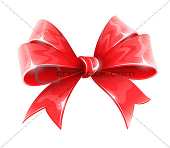 red bow for holiday gift decoration