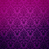 Damask vintage floral purple pattern