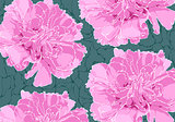 Floral illustration on darck background