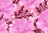 Floral background (few dark and light carnations)