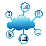 Cloud Computing electronic network Concept