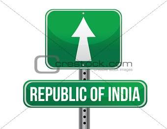 road sign to India