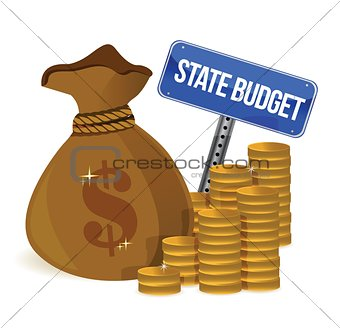 money Bag with state budget