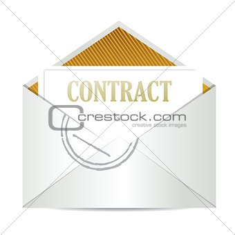 contract inside mailing envelope