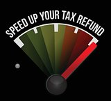 Speed up your tax refund speedometer