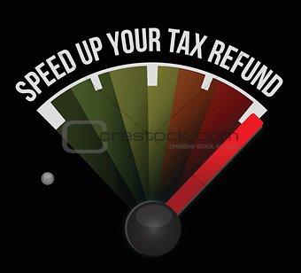 Speed up your tax refund speedometer