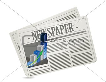 business newspaper graph illustration