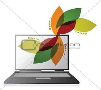floral design laptop design