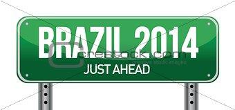 BRAZIL road sign