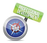 professional development Glossy Compass