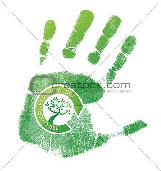 Green handprint eco, bio
