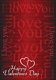 Valentine card I love you