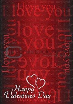 Valentine card I love you
